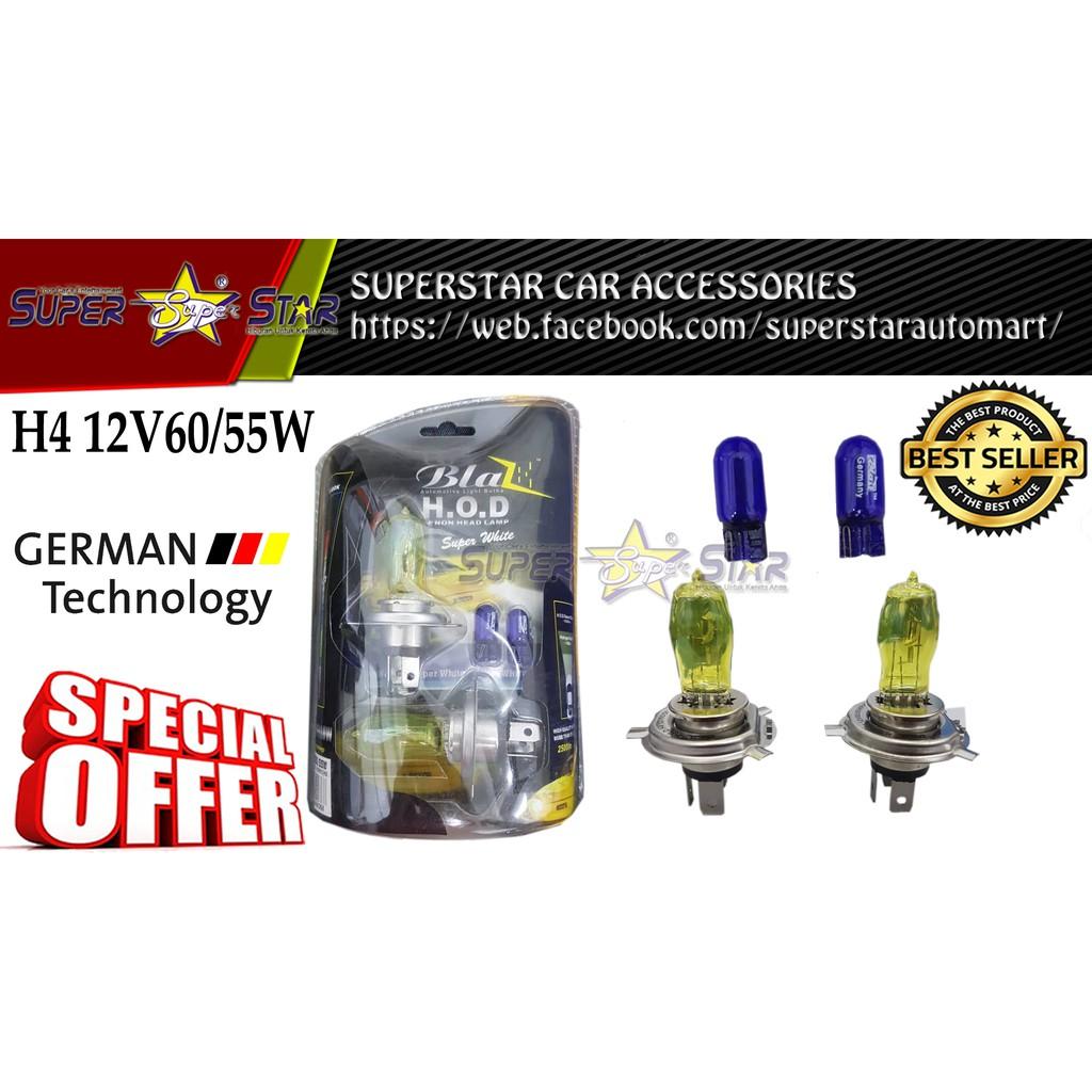 BLAZE H.O.D XENON HEAD LAMP (H4 12V60/55W) SUPER YELLOW