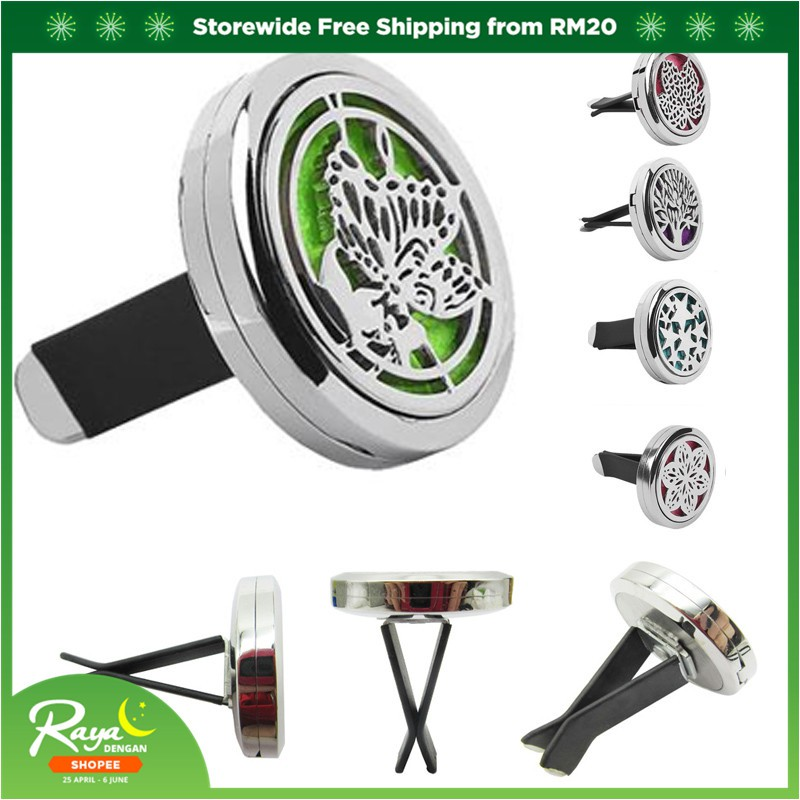 NIC Stainless Steel Car Vent Air Freshener Fragrance Essential Oil Diffuser