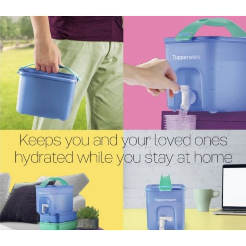 TUPPERWARE BEVERAGE CLICK TO GO 3.1L/ WATER DISPENSER/ BEKAS AIR TUPPERWARE/ TONG AIR TUPPERWARE