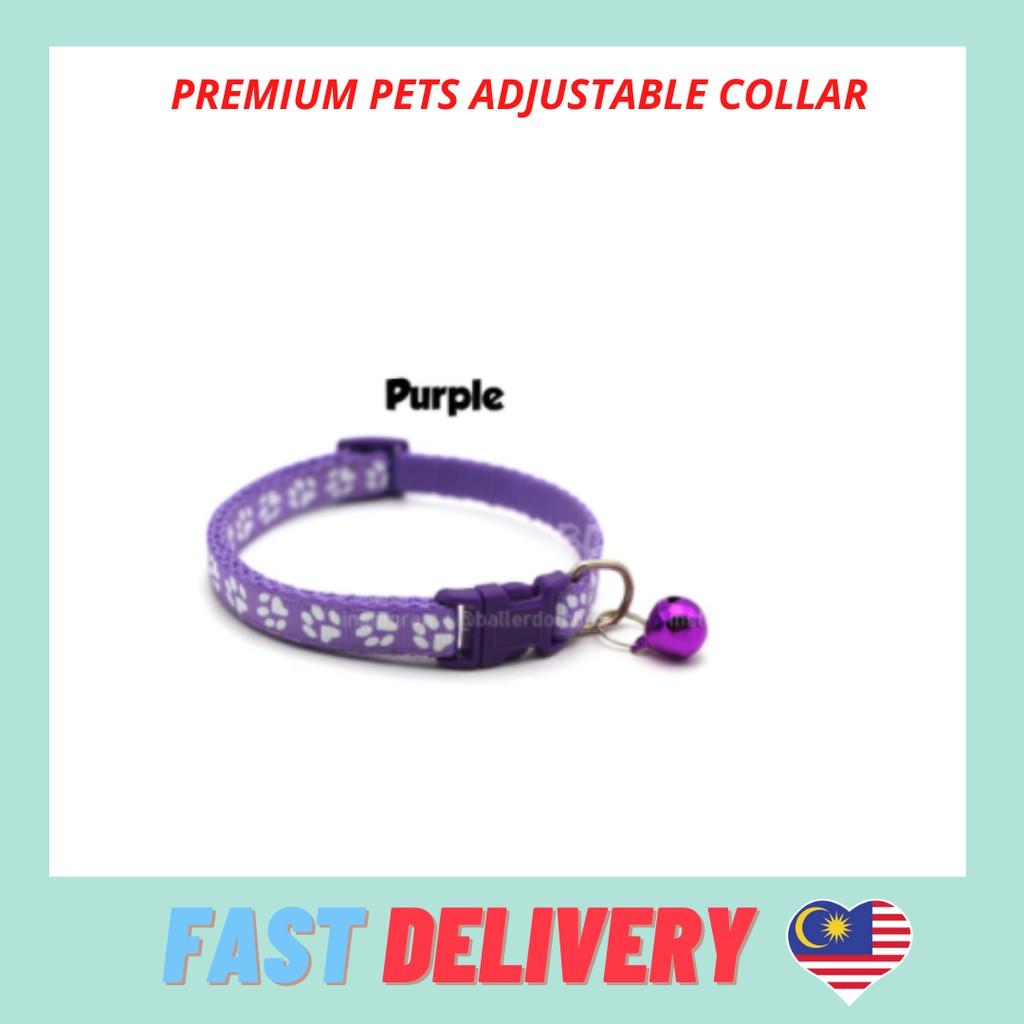 Collar Small Footprint Pet Nylon Fabric Collar Cat Kitten Dog Puppy Bell Belt Doggie Kolar Haiwan