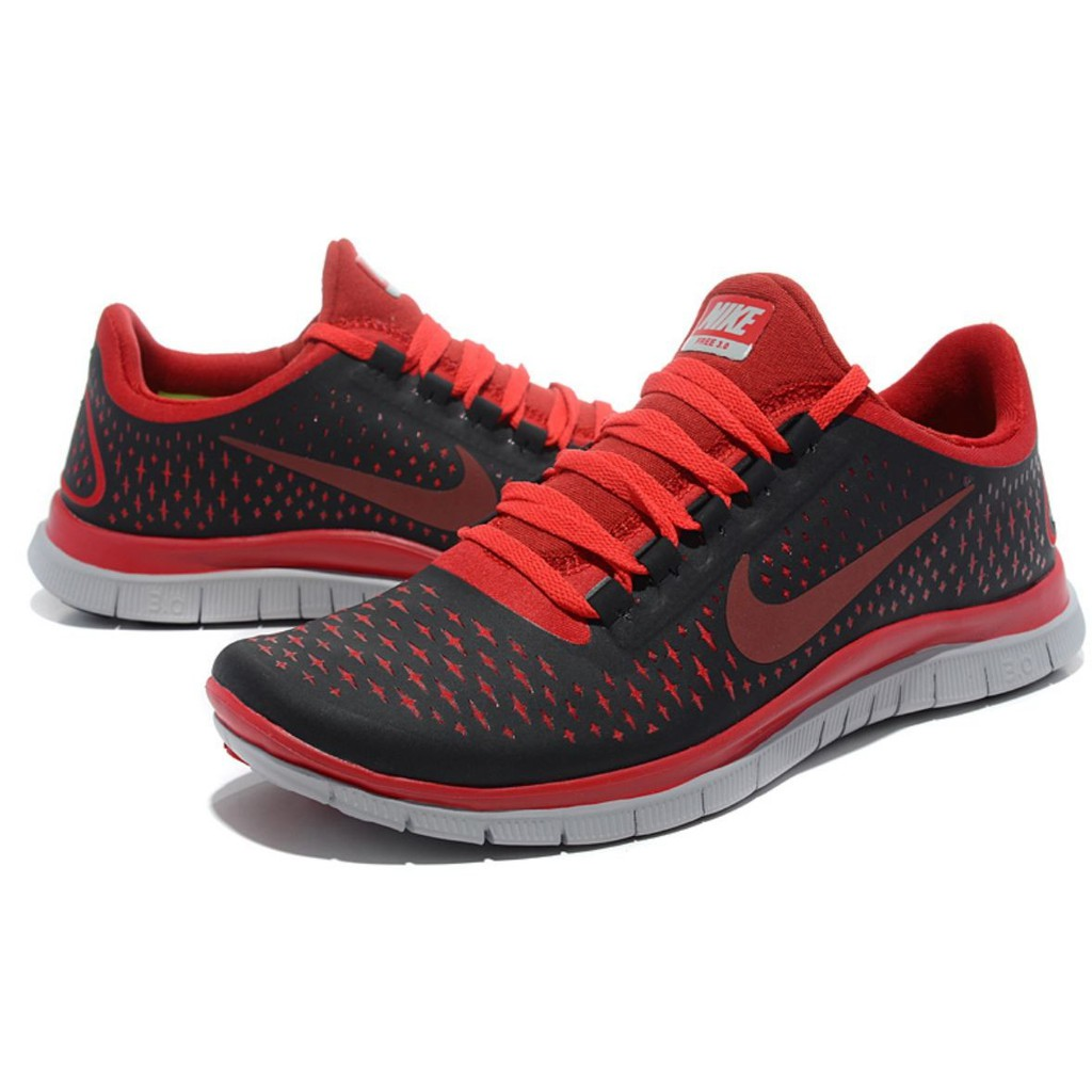 timeless design 1e60c 18c05 Nike Free Run 3.0 V4 Black Red