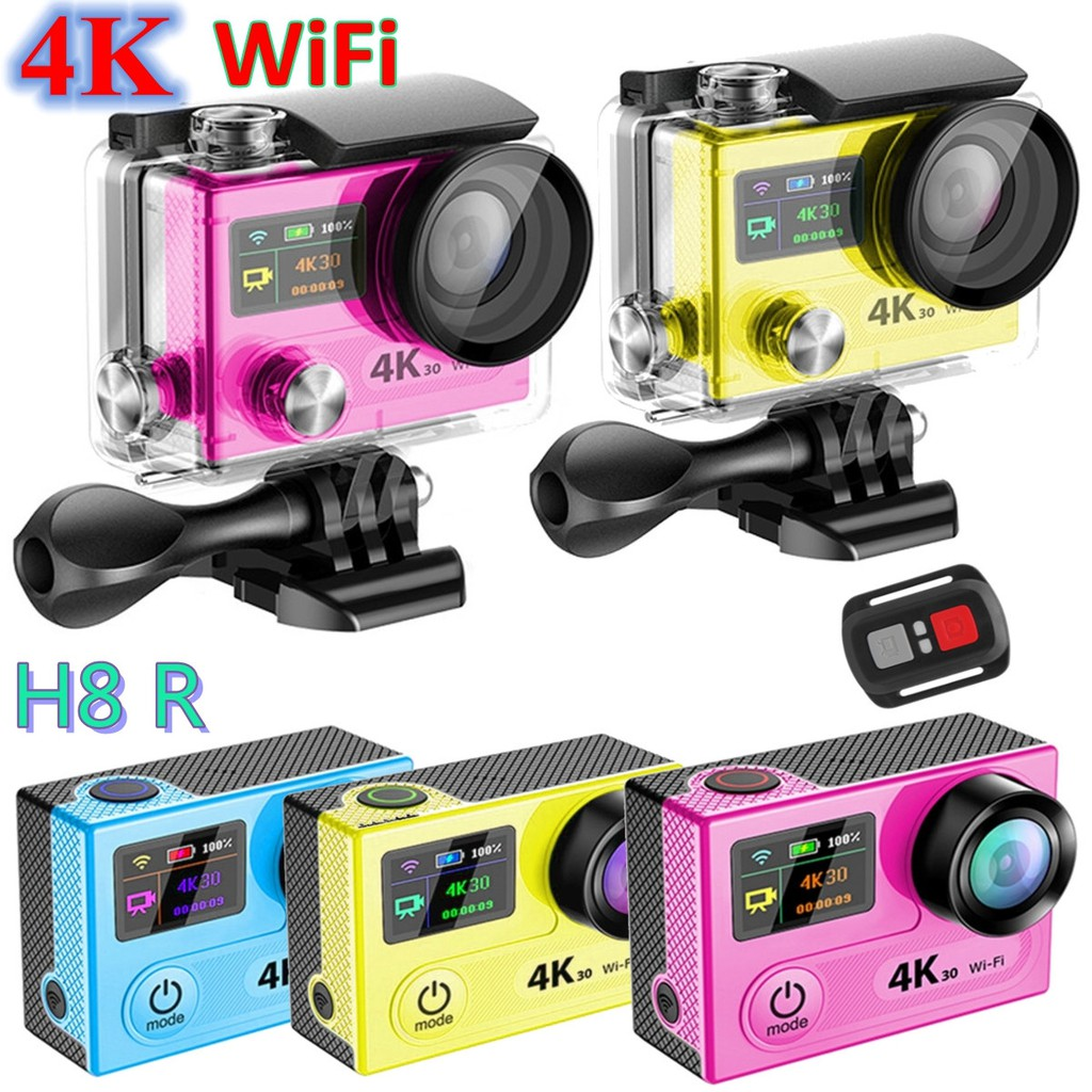 Eken H8r Sport Action Camera Dv Vr 4k Ultra Hd Dual Screen Wifi 24g H3r Bult In Remote Control Cam Controller Shopee Malaysia