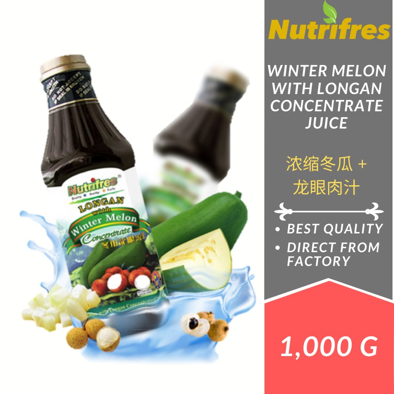Nutrifres Winter Melon with Longan Fruit Juice Concentrate / Cordial (1 Liter)
