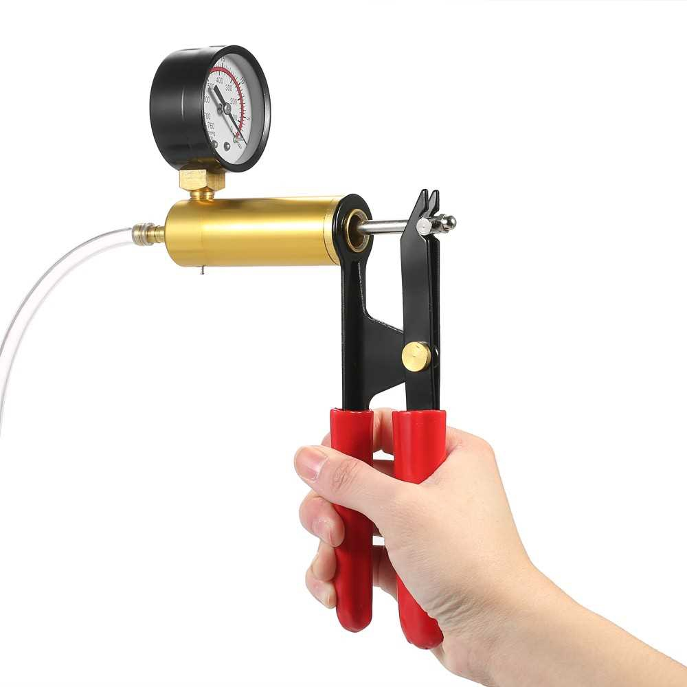 Great Discount 17pcs Professional Car Auto Hand Held Vacuum Pressure Pump Brake Bleeder Adaptor Fluid Reservoir Tester