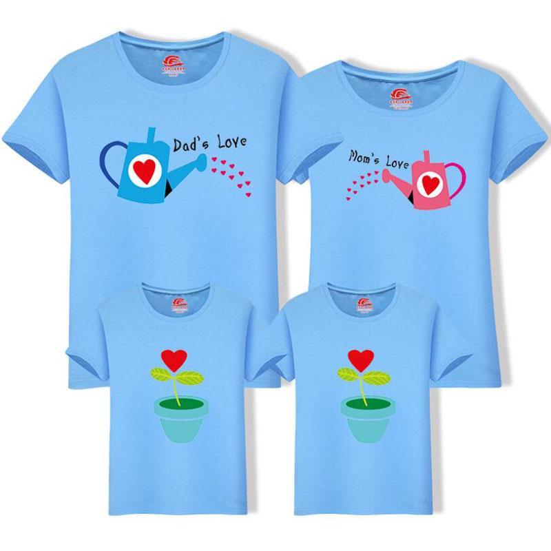70c4b60cb63ee Men Women Boy girl Cotton T-shirts Couple Mother Father child Family ...