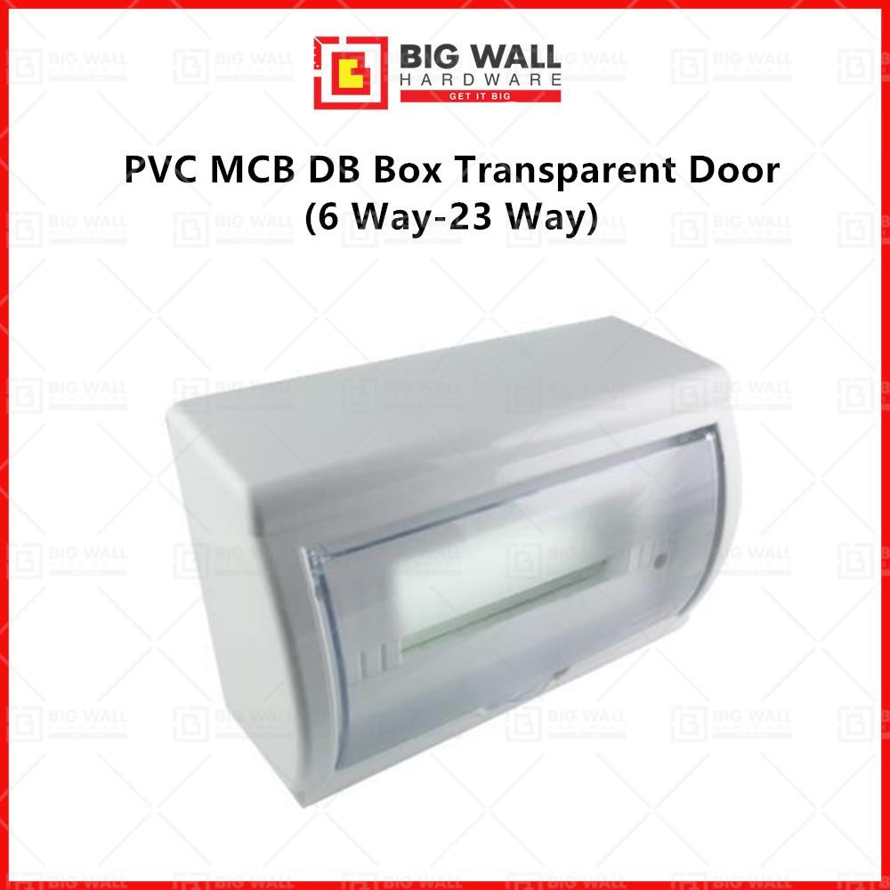 PVC MCB DB Box Transparent Door Standard Mcb Distribution Box 6 Way-23 Way Big Wall Hardware