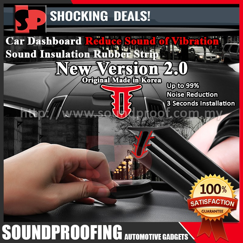 Original Car Dashboard Sound Insulation Rubber Strip Version 2