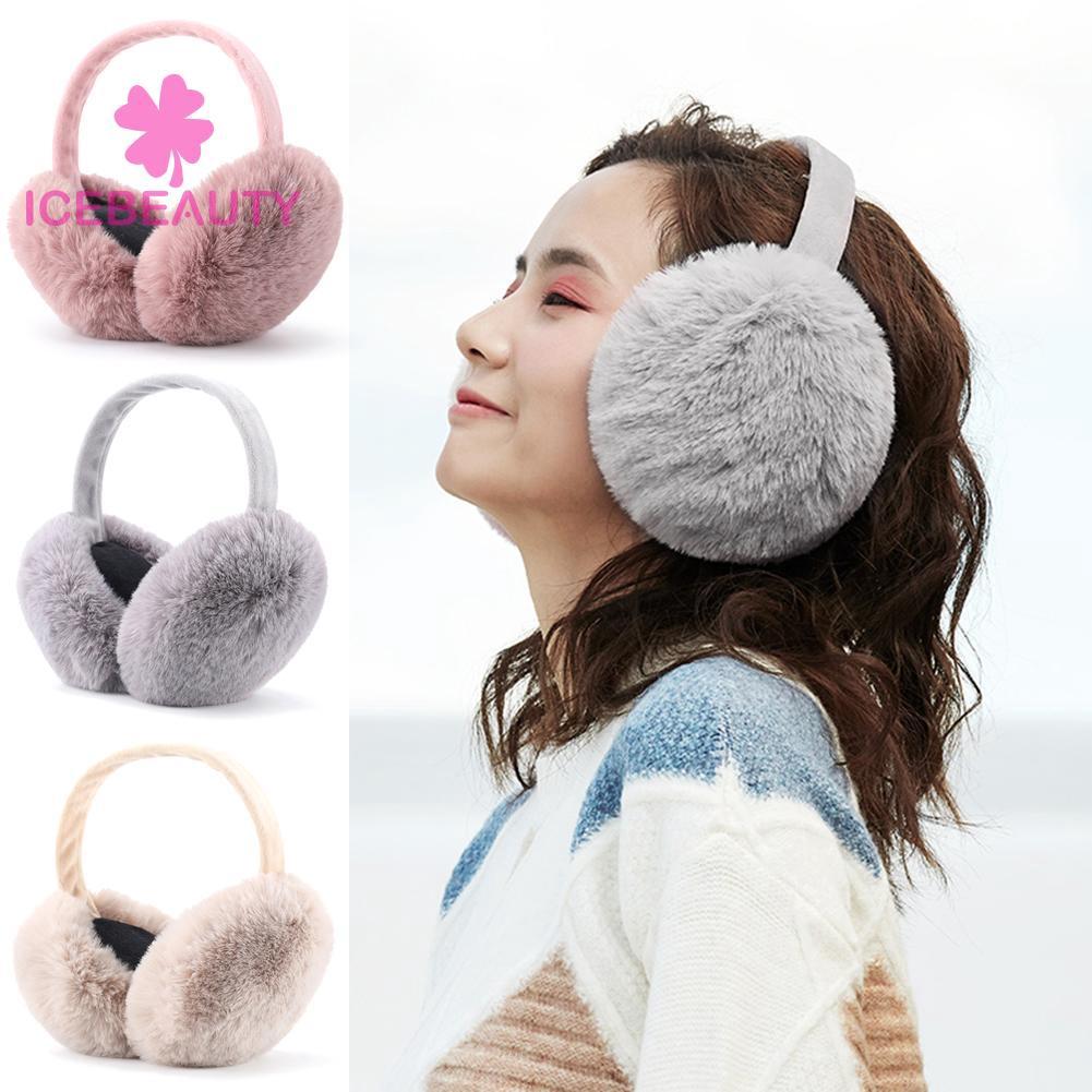 Winter Ear Cover Warm Knitted Earmuffs Ear Warmers Women Plush Ear Muffs CF