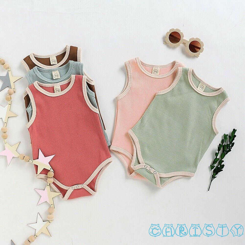 UK Newborn Baby Girls Summer Vest Romper Bodysuit Tops Jumpsuit Clothes Outfit