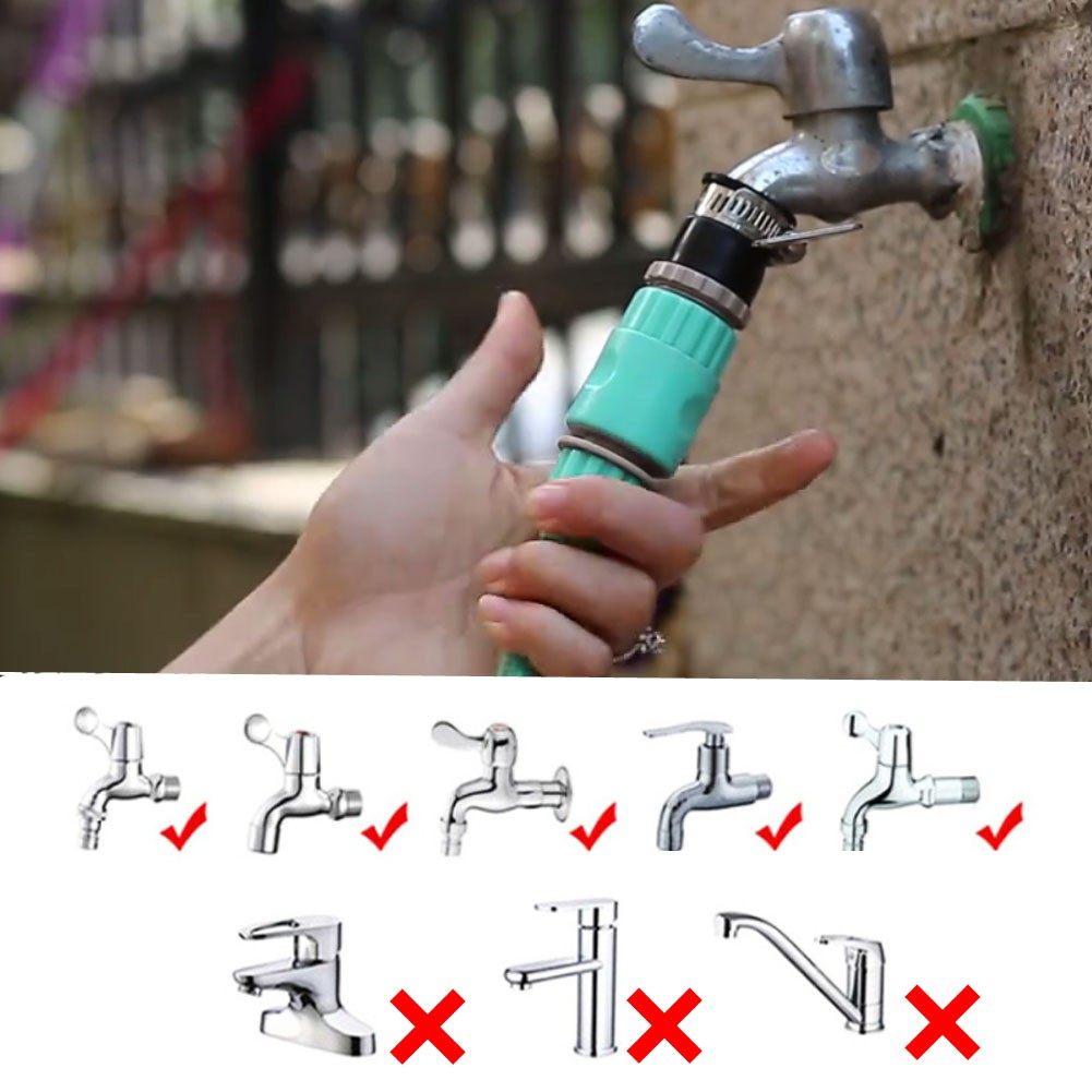 🚛Ready stock Local📦 Quality 44Ft High Pressure Foldable Garden Car Water Hose Sprayer Foam Nozzle