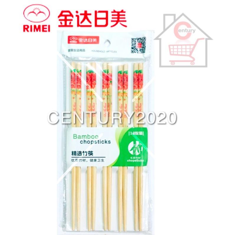 RIMEI Painted Printing Bamboo Chopstick Flower Printing 10 Pairs 31306