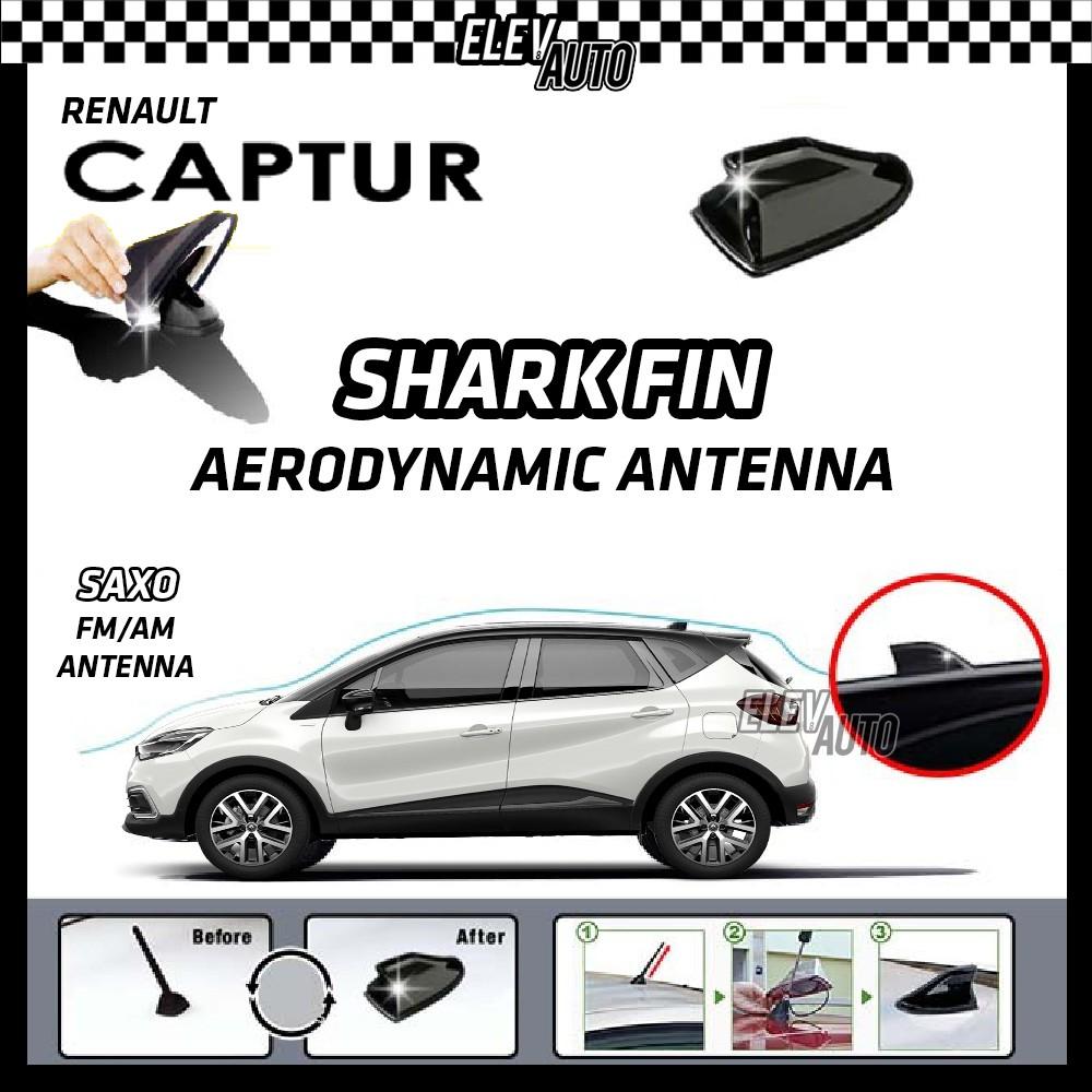 Renault Captur SAXO Shark Fin Aerodynamic Antenna FM/AM Racing Antenna (Black)