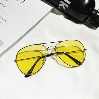 0e7ec1e872 Shopee Accessories Eyewear Eyeglasses Korean star Quan Zhilong same  paragraph yellow transparent sunglasses male tide retro night vision s.  like  0