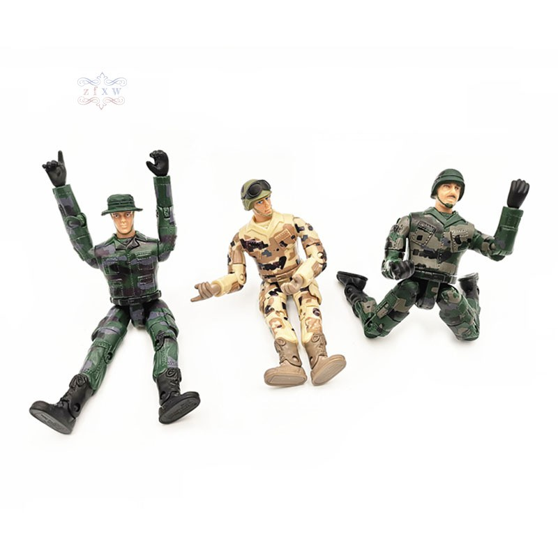 100 MINI TOY SOLDIERS SMALL MILITARY ARMY MEN FIGURES CHILDRENS LOOT//BAG FILLERS