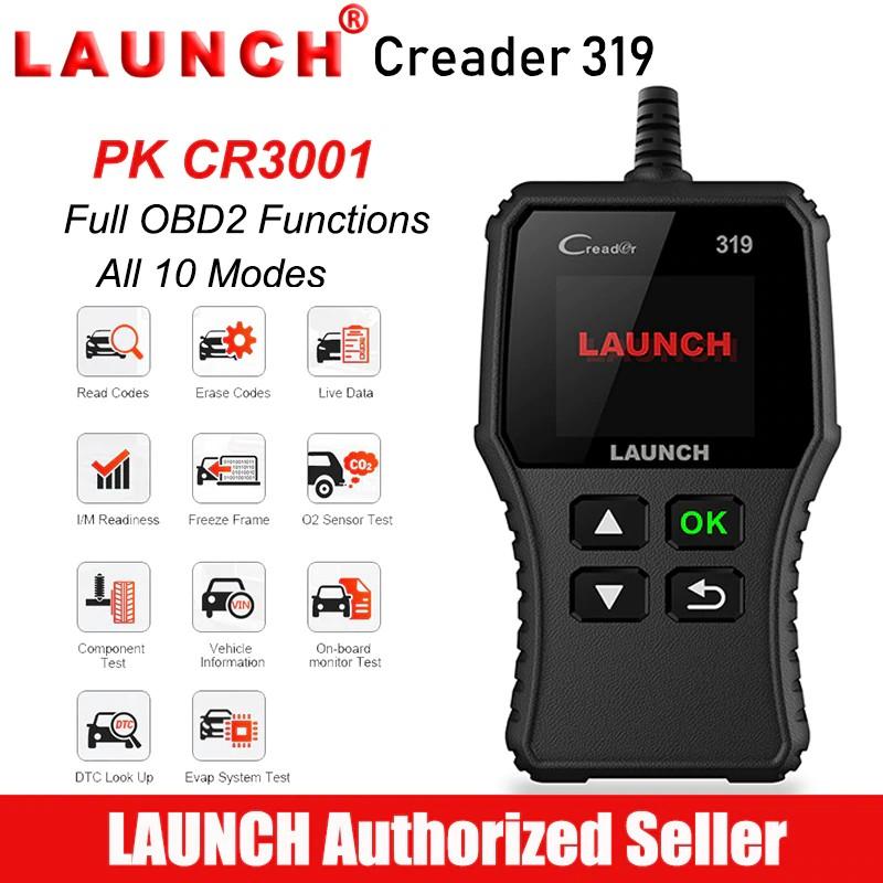Launch Creader 319 Scanner Car Fault Code Reader Automotive Full Scaner  Auto Diagnostic Tool Creader 3001