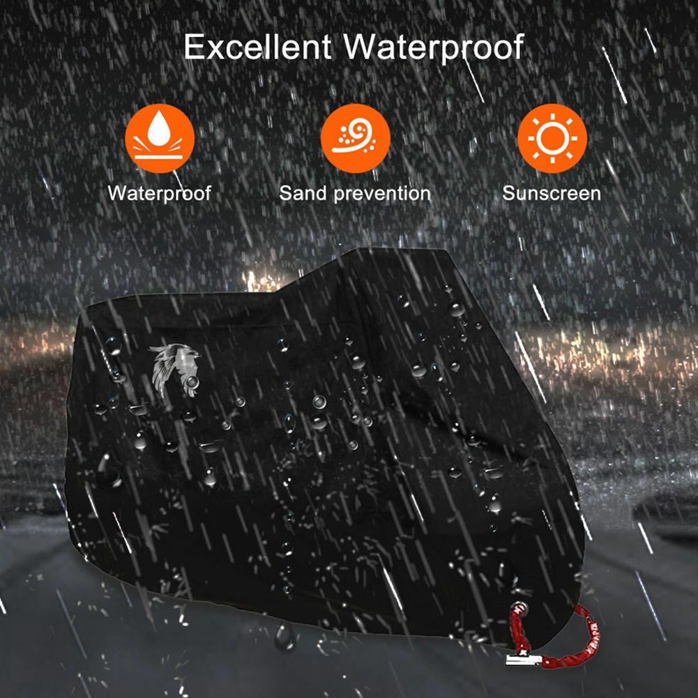 XL Motorcycle Cover Waterproof Outdoor Rain Dust UV Scooter Motorbike Protector