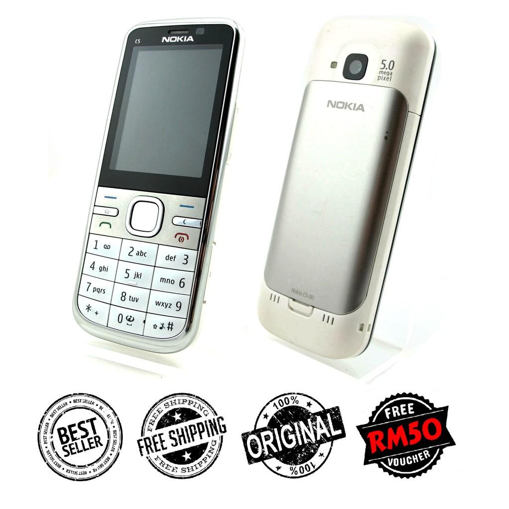 "🇲🇾 Original Nokia C5 C5-00 Premium Refurbished ""Good As New"" Full Set [1 Month Warranty] FREE RM50 Voucher"