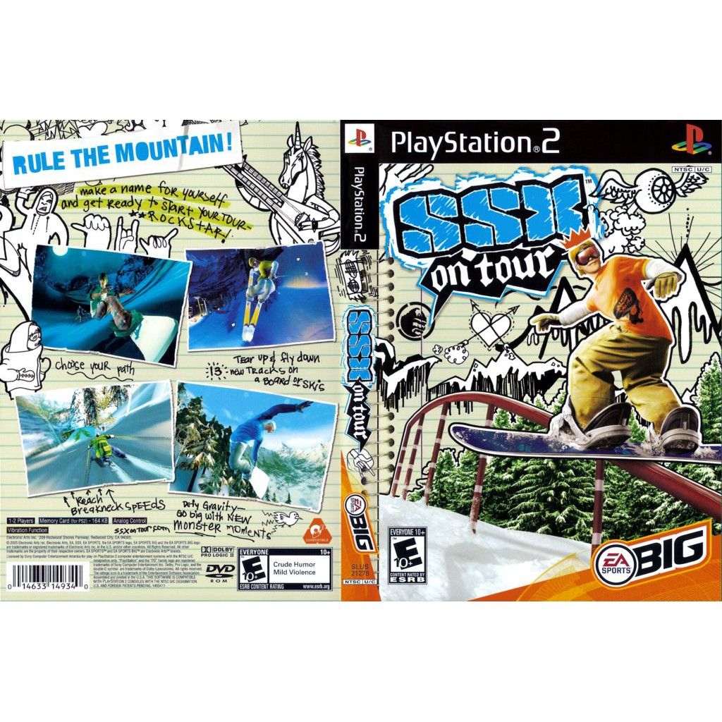 PS2 Game SSX On Tour