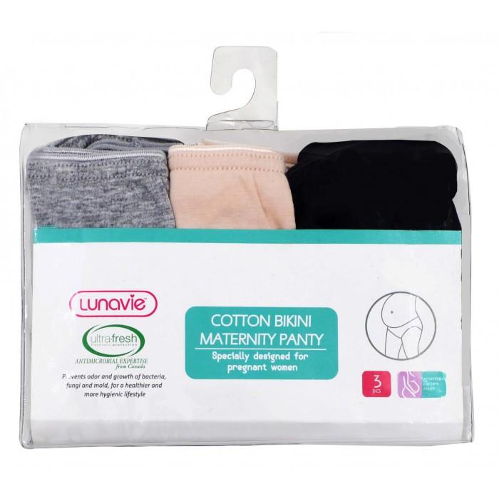43967d3e8dae Lunavie Cotton Bikini Maternity Panty 3 Pcs / Pack | Shopee Malaysia