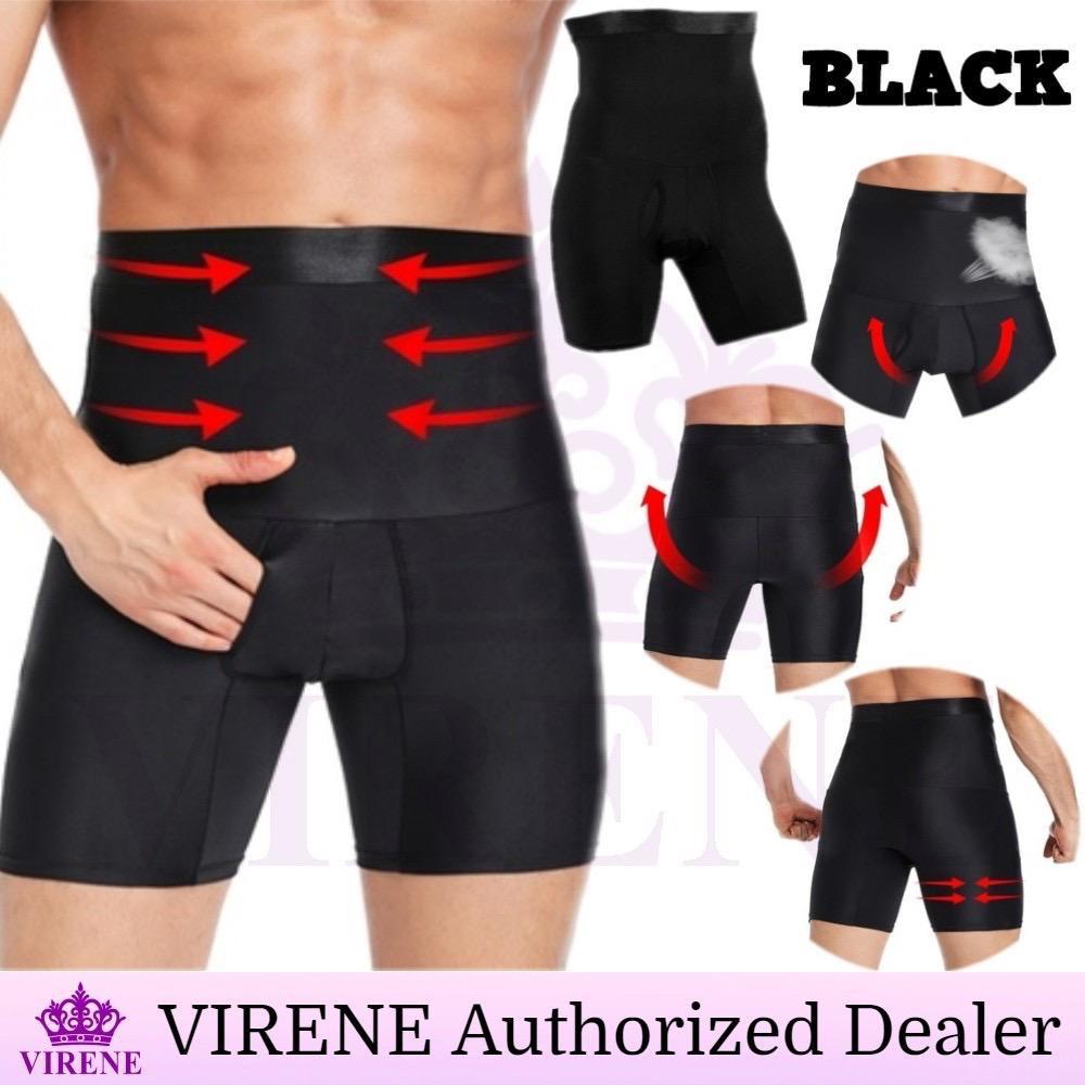 【100% ORIGINAL】 VIRENE Girdle Pants Men High Waist Slimming Shaper Tummy Slim Underwear Fitness Sports Corset Pant