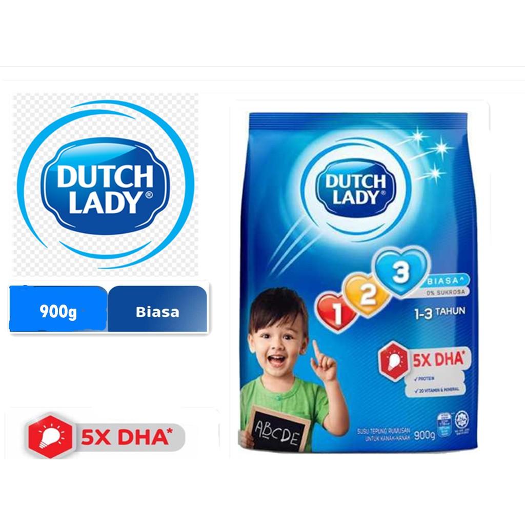Dutch Lady 123 Plain (900g)