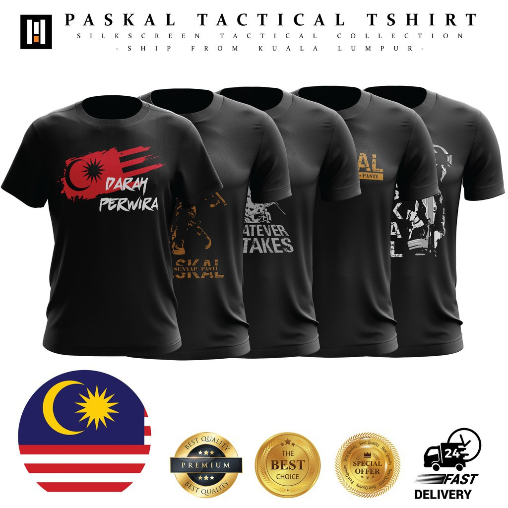 Tactical T-Shirts Jersey Microfiber - 2 (READY STOCK)  Baju Tacttical SWAT
