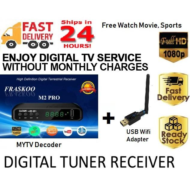 [2019] MYTV MyFreeview DVB T2 Decoder 4K Full HD 1080 No Monthly Fee Movie  Sport