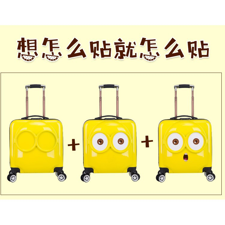 EVON PREMIUM OFFICIAL 3D MINIONS 18 INCH UNIVERSAL TROLLEY LUGGAGE TRAVEL KIDS