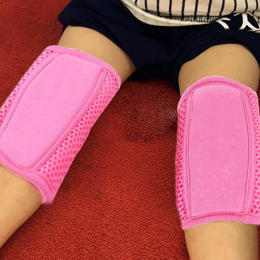 Baby Kids Knee Protector Sponge Mesh Leg Warmer Pad Crawling Toddler 4 Colors