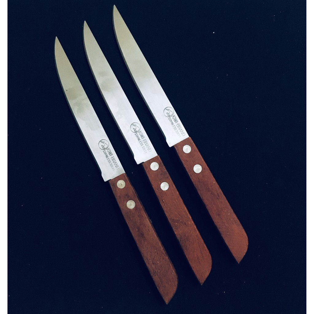 Thailand Kiwi Kitchen Wooden Handle Knife Stainless Steel Blade Household Knife 501