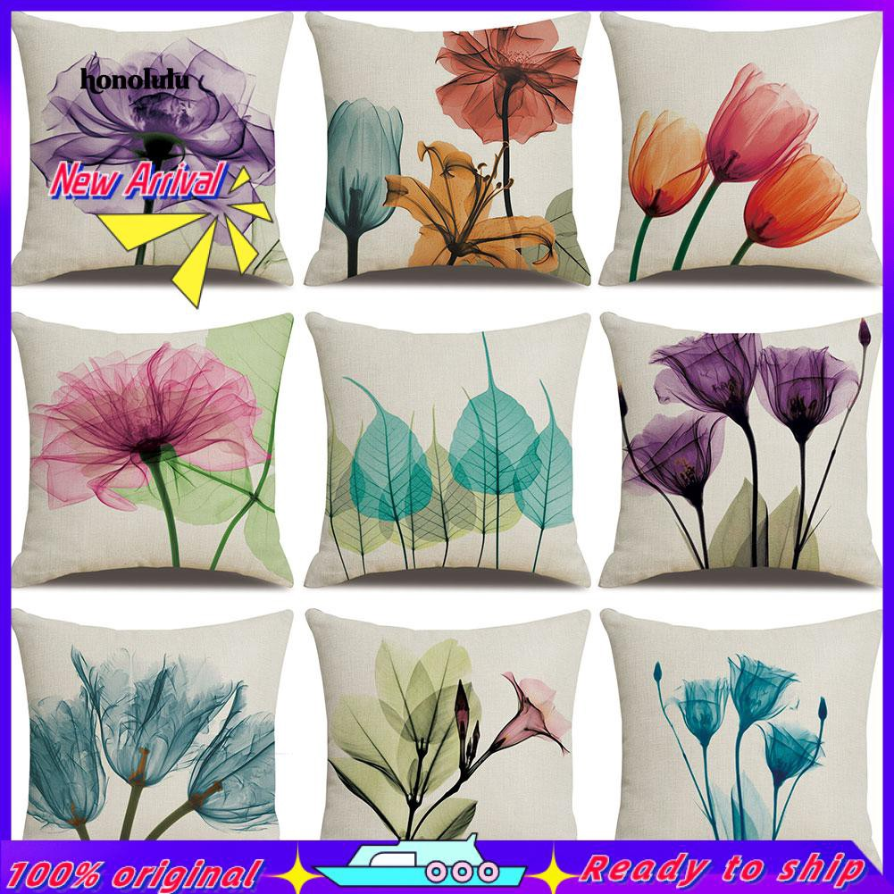 Purple Flowers 3D Photo Printed High Quality Double Sided Cushion Cover45cmx45cm