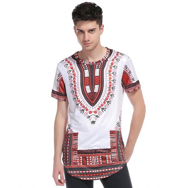 Summer Men Dashiki Shirt Short Sleeve African Mexican Hippie Gypsy Tees Tops New