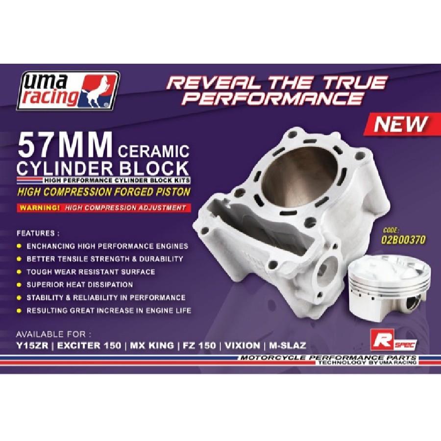 UMA RACING LC135/FZ150/Y15ZR 57MM RACING BLOCK