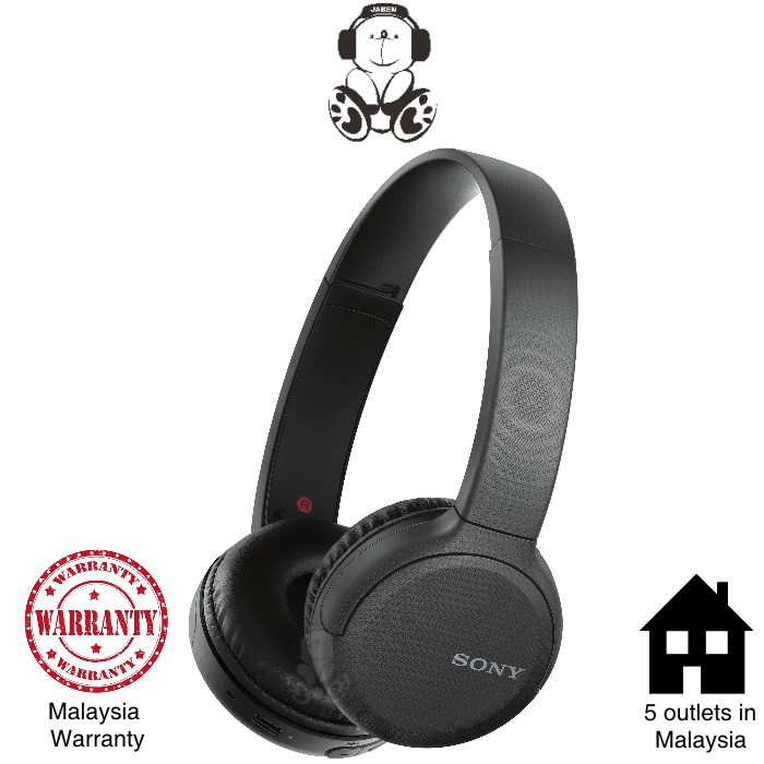 Sony WH-CH510 Lightweight Bluetooth 35 Hours Type-C Charging On-Ear Headphones [Jaben] CH510