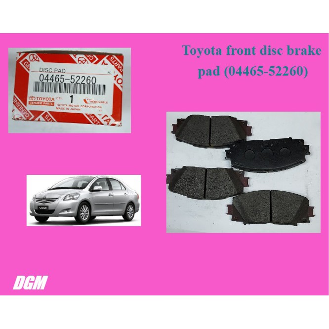 Toyota front disc brake pad for Vios NCP93 J spec E spec - 04465-52260