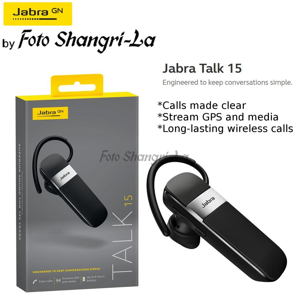 Jabra Talk 15 Bluetooth Wireless Mono Headphone Earphone In Ear Clear Audio Shopee Malaysia