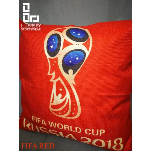 World Cup 2018 Pillow Red National Graphic