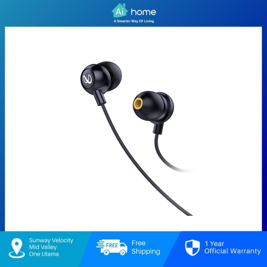 Infinity by Harman Wynd 220 Stereo In-Ear Headphone - Infinity Deep Bass Sound | Remote with Microphone [ Aihome ]