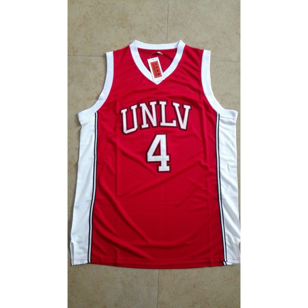 hot sale online 28b45 72eb1 Larry Johnson UNLV 1989 Jersey Running Rebels Throwback Shirt Stitched Red  Mens