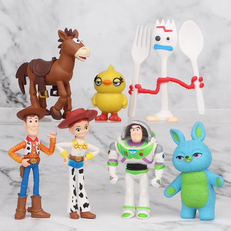 7pcs/set ToyStory Action Figure Woody Buzz Lightyear Kids Gifts Toy Model