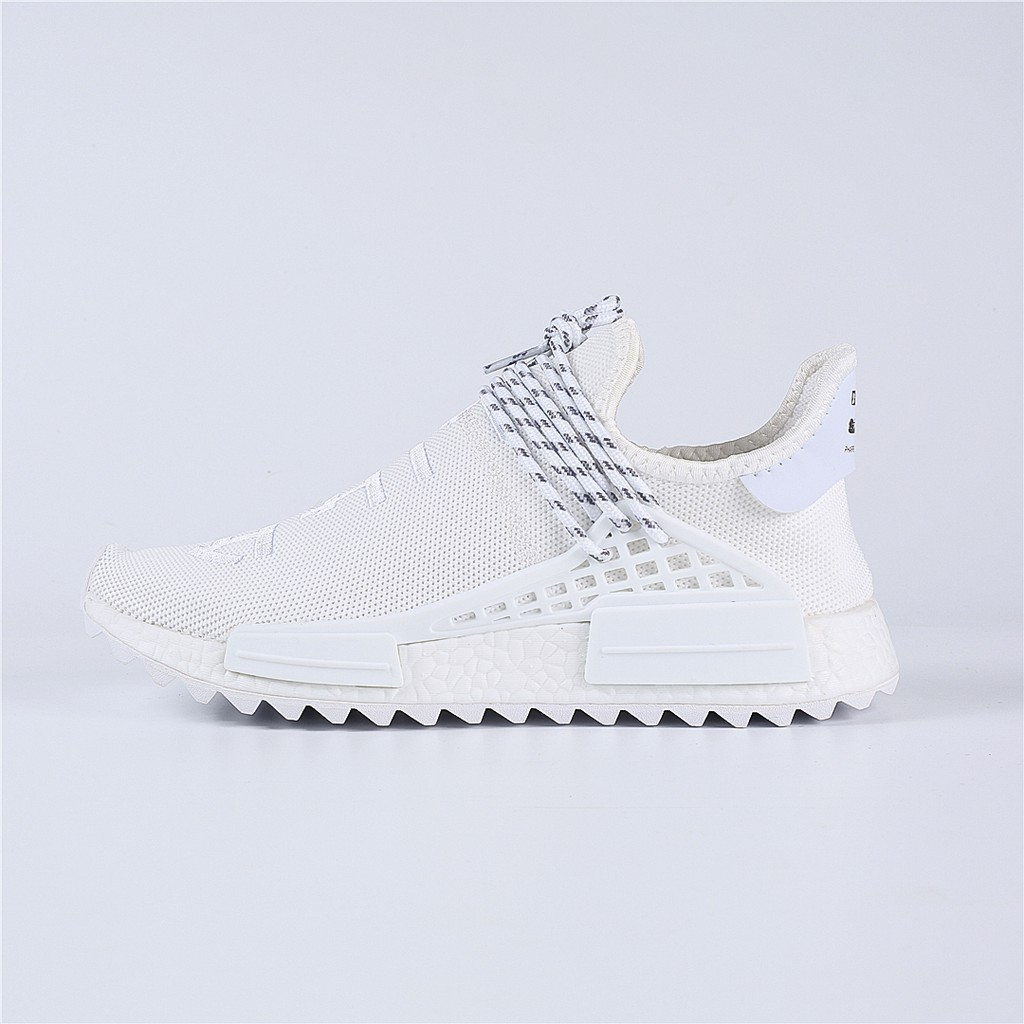 san francisco 84404 f29f0 Original Adidas Human Race NMD Boost Pharrell Williams Running Shoes All  White
