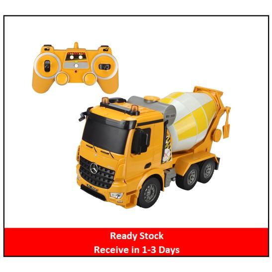 🌟Ready Stock🌟Original Double E 1:20 RC Cement Concrete Mixer Engineering  Truck