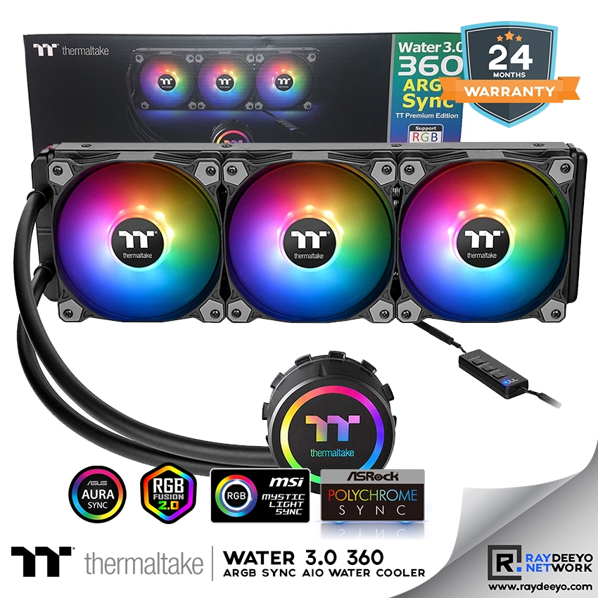 Thermaltake Water 3 0 360 ARGB Sync Edition CPU AIO Water Cooling [Sync  with Motherboard]