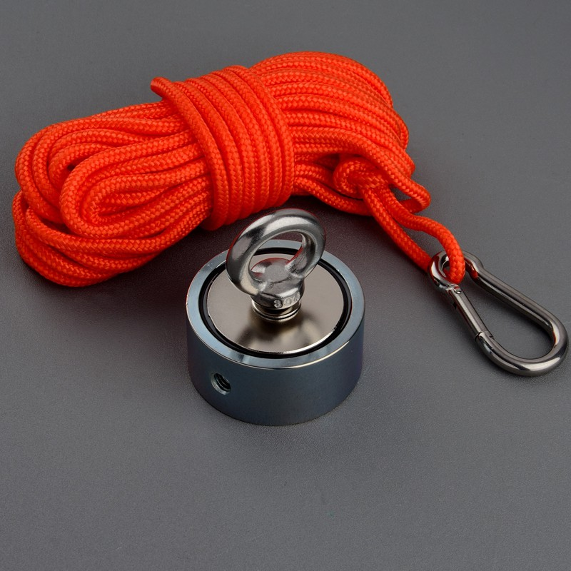 30M Pull Rope with Hook For Fishing Base Sea Neodymium Recover Salvage Magnet