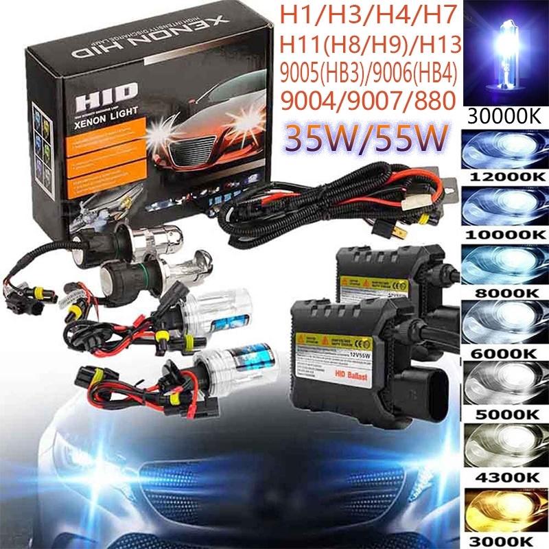 35W//55W HID Xenon Conversion KIT Headlights Canbus H1 H3 H4 H7 H11 9005 9006 NEW