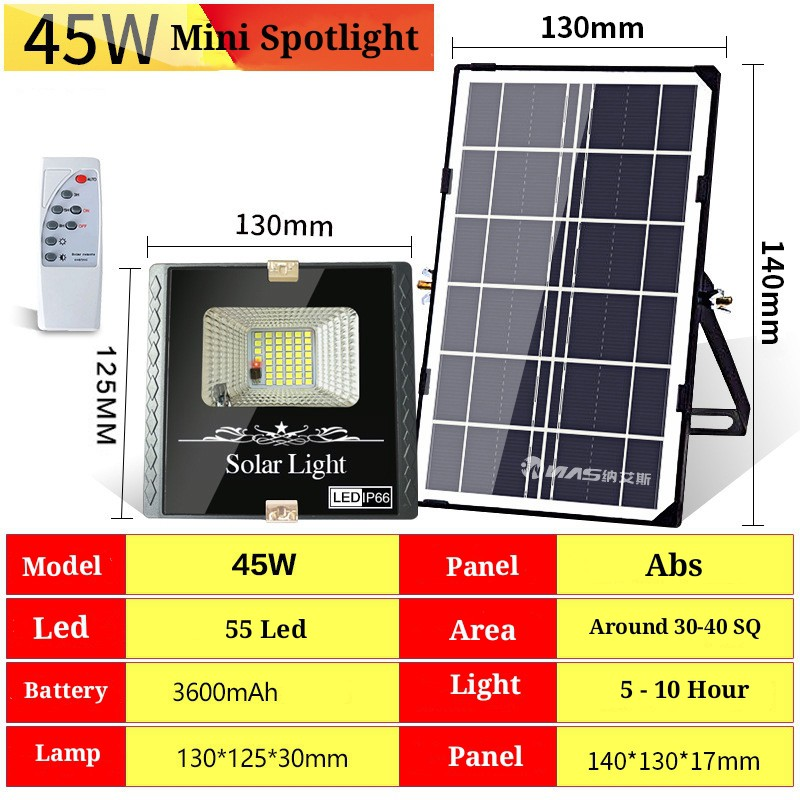 [ READY STOCK ]  Solar Spotlight Flood Light Outdoor Street Garden Light Waterproof Remote Pelita Lampu Raya MurahLamp