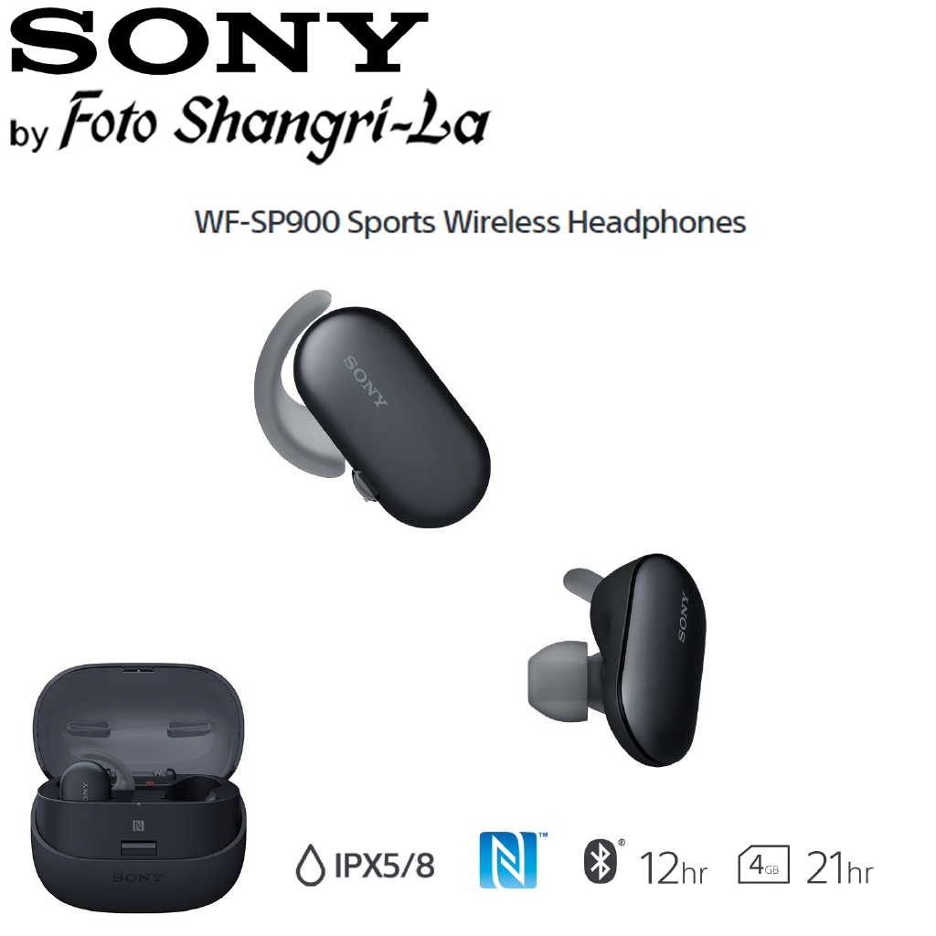 Sony WF-SP900 Sports Wireless Earbuds In-Ear Headphones Ambient Sound  (Black)