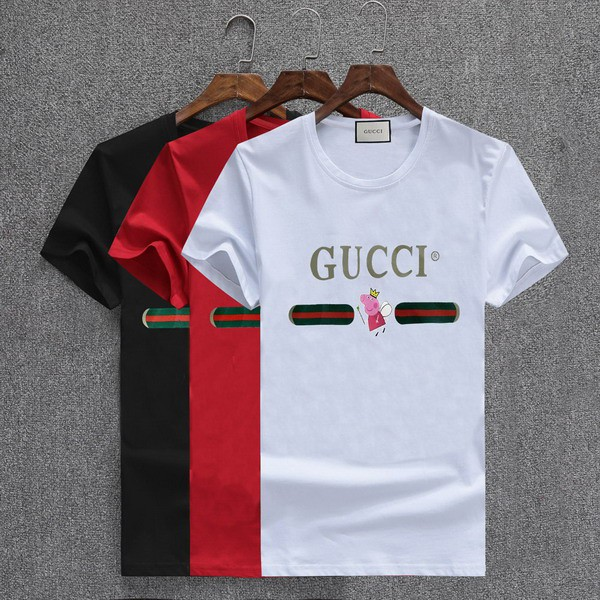 8b9422ded New Gucci short-sleeved T-shirt Summer breathable wild men polo shirt  T-shirt | Shopee Malaysia
