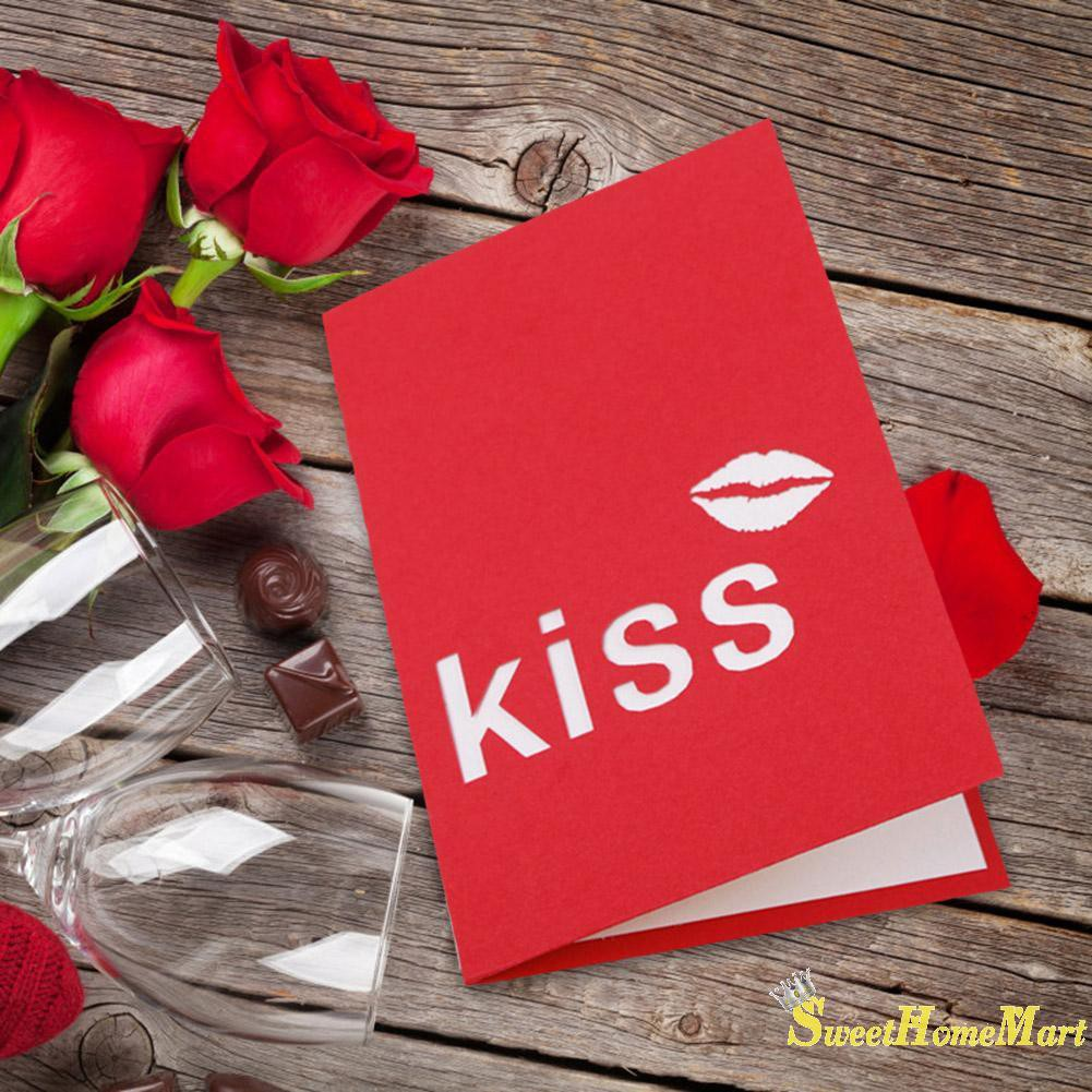 Awesome Sweet3D Pop Up Cards Romantic Flame Red Lips Greeting Card Personalised Birthday Cards Paralily Jamesorg