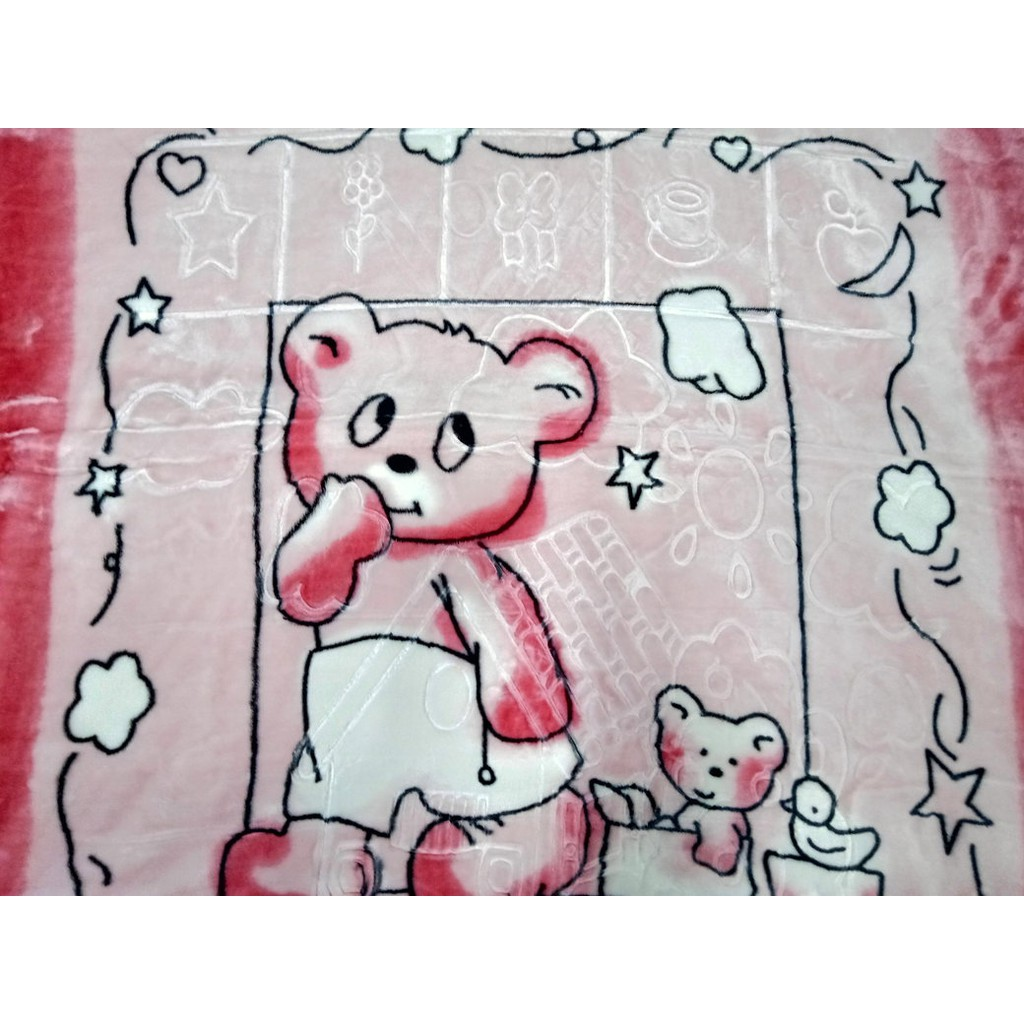 Sweet Dream Bear Design Baby Blanket Newborn